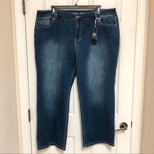 NEW! AVENUE Stretchy Bootcut Jeans Size 24 Petite